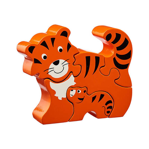 Holzpuzzle Tiger & Baby